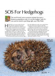 HEDGEHOG SOS cover